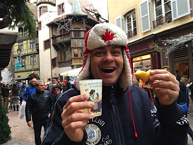 Drinking Vin Chaud in Colmar