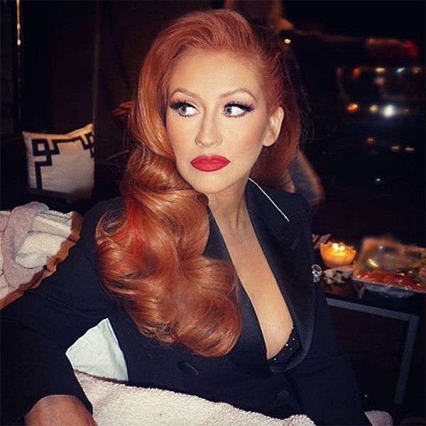 Christina Aguilera's new hair color matches her fiery personality.  She looks BAD AS F***!! She can pull off anything. ♡♡♡♡♡