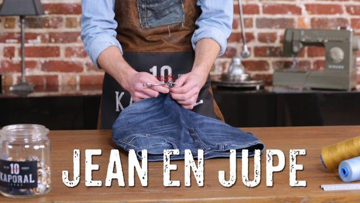 Comment transformer un jean en jupe ?