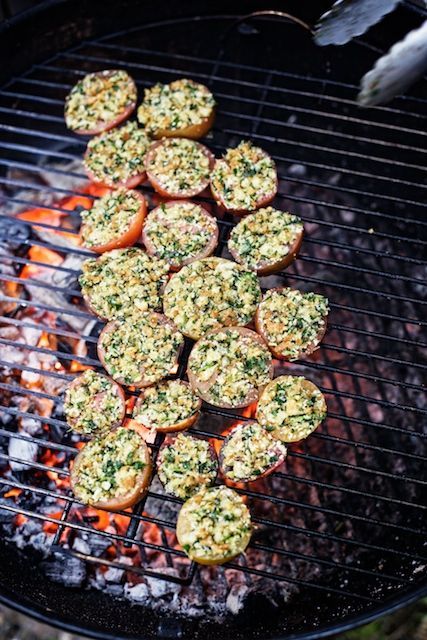 Stuffed and Grilled Tomatoes