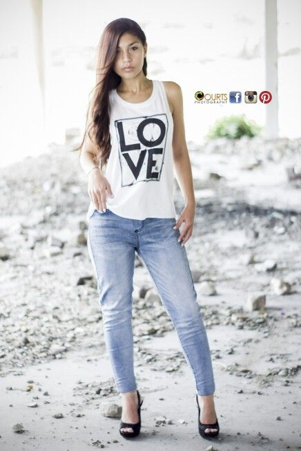 Photoshoot with a model. #abandonedbuilding #model #ruins #jeans #heels #swag