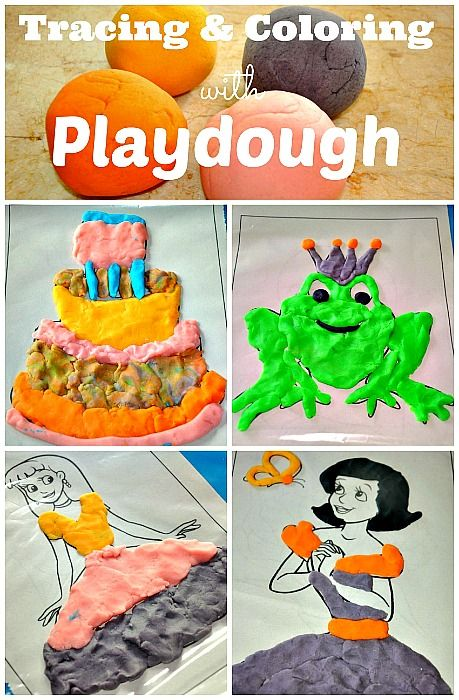 Tracing and Coloring with play dough