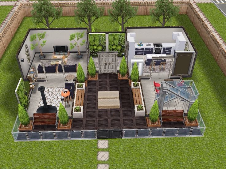 House 2 Ground Level Sims Simsfreeplay Simshousedesign My Sims Freeplay Houses Pinterest
