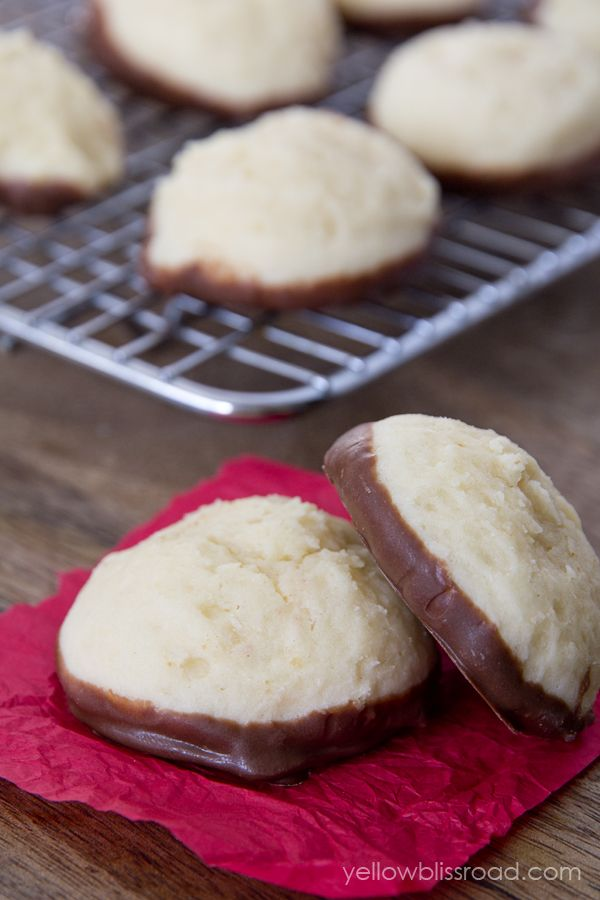 Chocolate Dipped Cheesecake Cookies.. Holy guacamole.. These sound delicious!