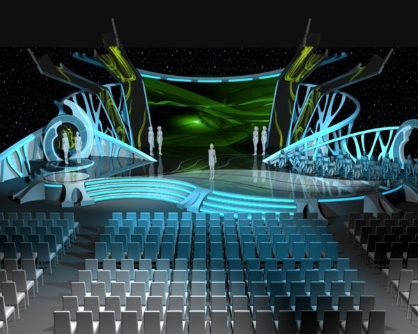 Stage design; Panasonic Award 2011; organic shapes and lighting