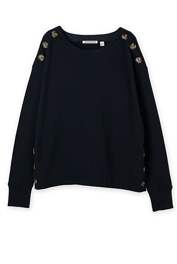 Button Detail Sweat