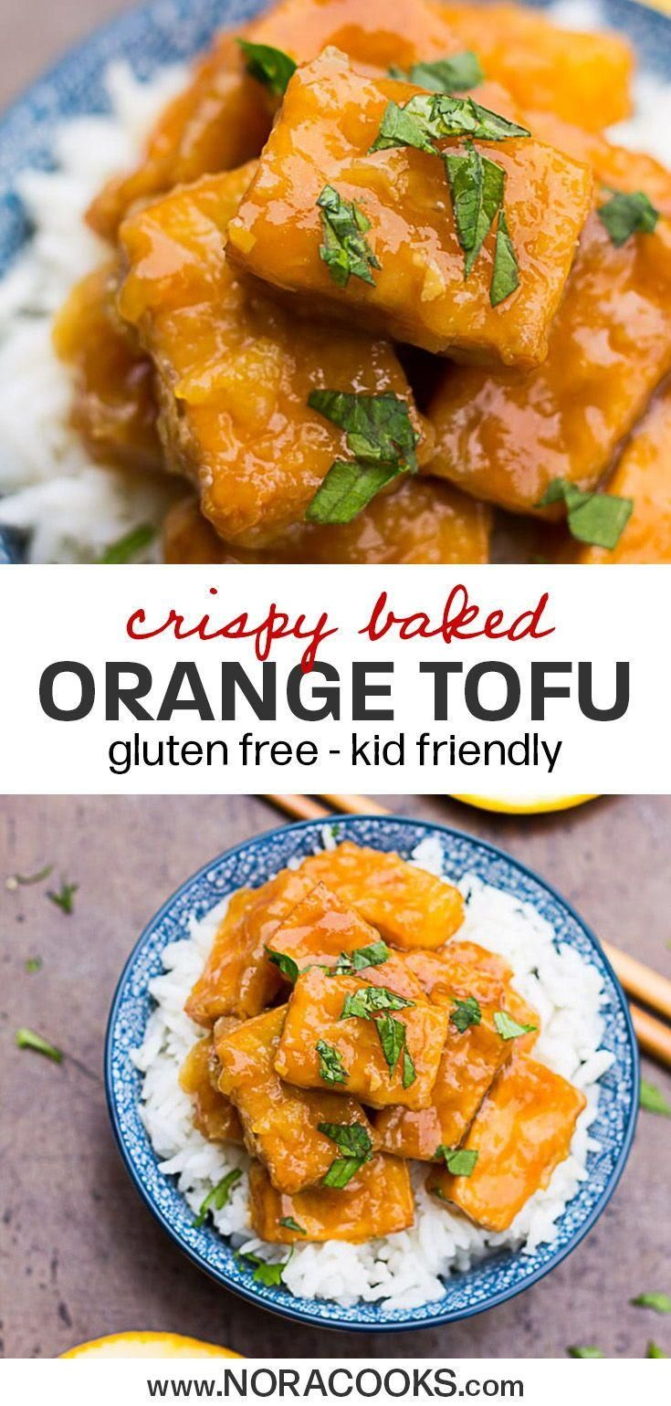 Skip The Take Out And Make This Vegan Copycat Pan Express Orange Chicken Totall Plant Based Tofu Recipes Vegan Vegan Asian Recipes Orange Tofu Recipe