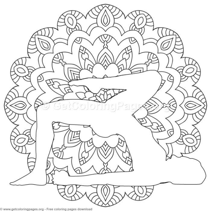 4 Yoga Pose Mandala Coloring Pages Free Instant Download Coloring Coloringbook Coloringpages Man Mandala Coloring Pages Yoga Coloring Book Mandala Coloring