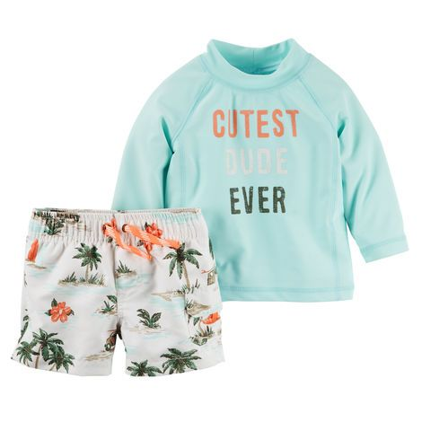 Carter's 2-Piece Rashguard Set Grayson needs a cute swimsuit!!