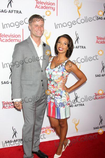 Eric Nenninger, Angel Parker at the Dynamic & Diverse Emmy Celebration, Montage Hotel, Beverly Hills, CA 08-27-15