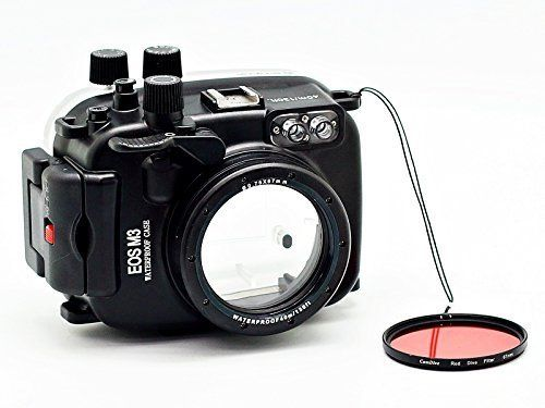 Camdive 40m/130ft Waterproof underwater camera housing case for Canon EOS M3 (22mm lens)