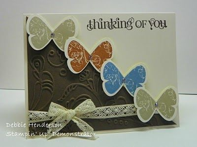Thinking of you card: Birthday Card, Butterfly Cards, Debbie S Designs, Crumb Cake, Cards Butterflies, Cardmaking, Butterflies Cards