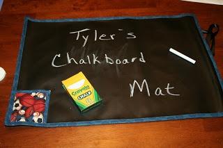 Sports Chalkboard Mat