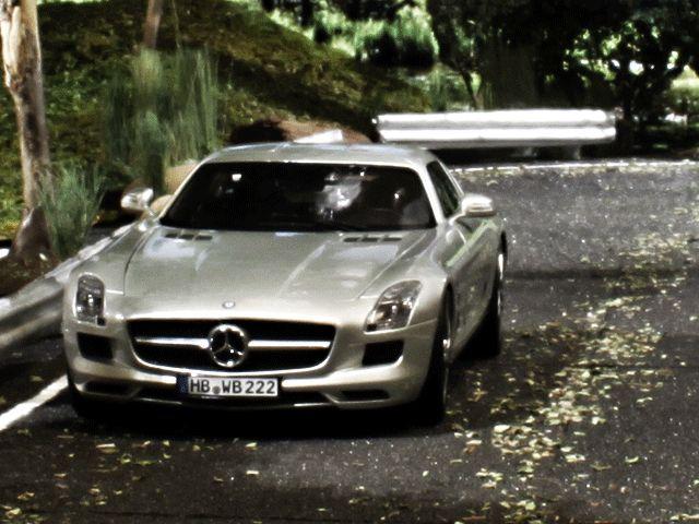 Mercedes SLS diorama