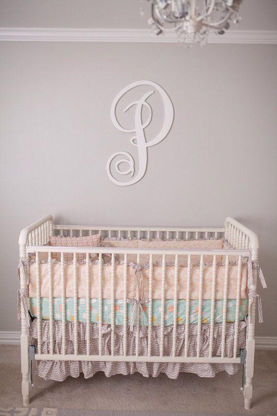 Peach Crib Bedding