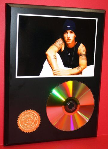 Eminem CD Art Display Rare Collectible Gold Disc Award Quality Limited Edition Music Artwork ***FREE PRIORITY... $54.95