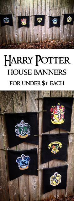 Harry Potter Hogwarts House Banners DIY