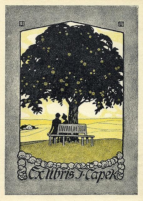≡ Bookplate Estate ≡ vintage ex libris labels︱artful book plates - tree