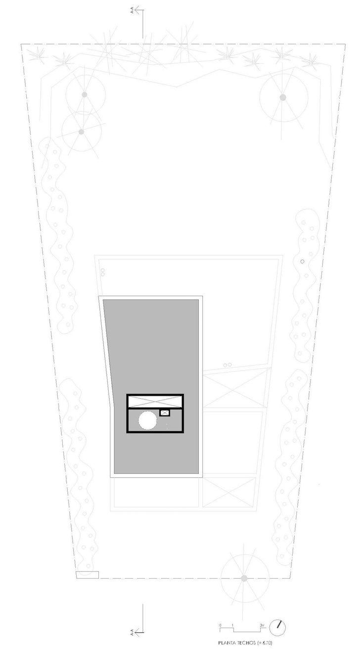Plano de techos de casa de dos pisos