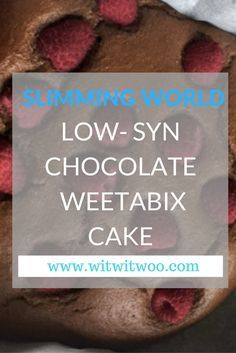 This Slimming World Chocolate Weetabix Cake/Brownie is delicious - I never know what to call it, other than yummy! Very low-syn and I always add raspberries to my recipe, which you may want to syn. Perfect with a cup of tea.