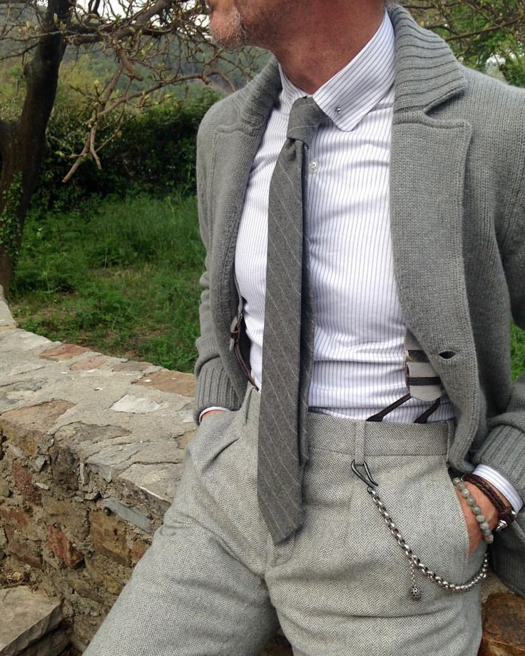 """menneedmorestyle: """"Details of the day  –> pin collar shirt and tie by @howardsparis  —> knit blazer/cardigan by @maglificiogransasso  ______________________________________________ """""""