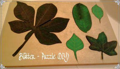 Blätter Puzzle, Leaf Puzzle, Herbst, autumn, Montessori
