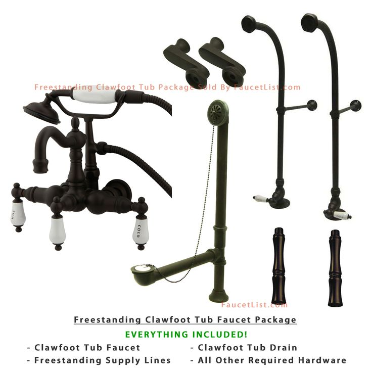 floor mount tub faucet oil rubbed bronze. freestanding floor mount oil rubbed bronze hot/cold porcelain lever handle clawfoot tub filler faucet with hand shower package 1009t5fsp b