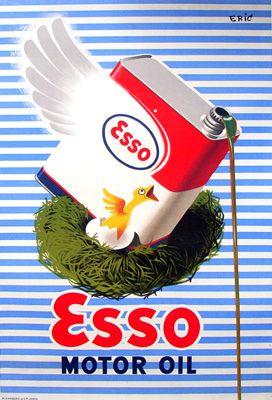 Esso Motor Oil   ⇆ 500  https://www.pinterest.com/leovanroey/cars-paintings/