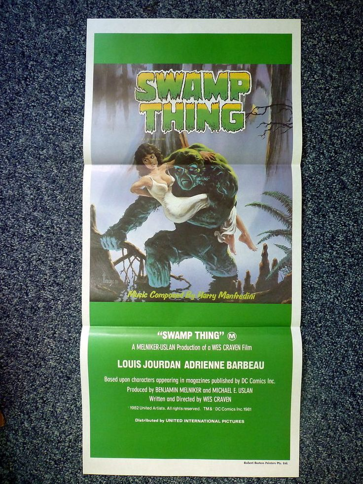 SWAMP THING Original 1982 Australian Horror Daybill Movie Poster Wes Craven