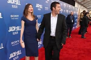 Adam Sandler led his wife, Jackie Sandler, down the red carpet ...