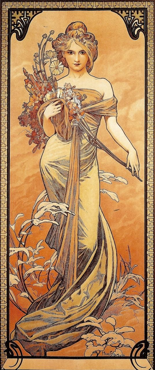Art Nouveau ~ Le Printemps ~ by Mucha ~1905