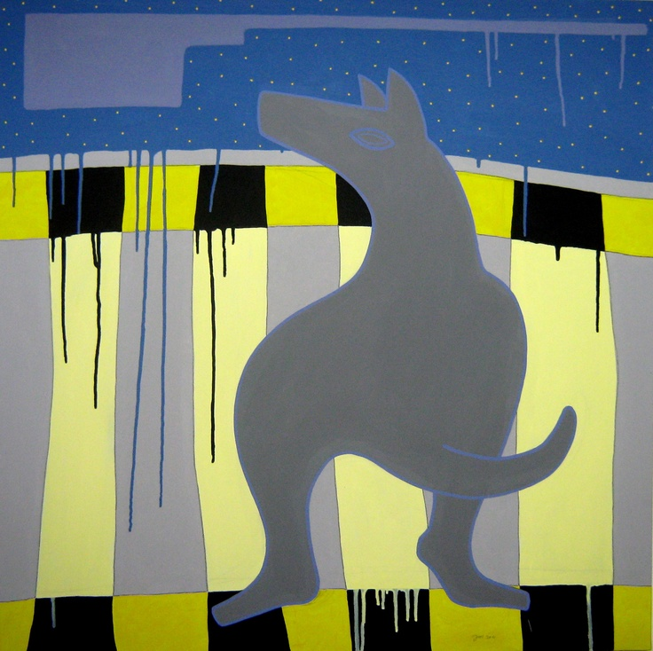 """andrea mattiello """"urban dog""""    acrilico e grafite; cm 80x80; 2011 #andreamattiello #mattiello #arte #art #contemporaryart #italianartist #artista #artista #emergente #acrilico #tela #tecnicamista #acrylic #canvas #collage"""