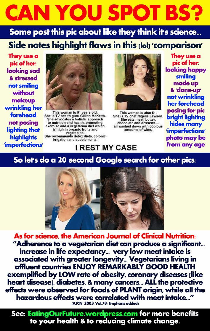 Best Funny Memes Debates Explains Debunks Which Diet Lifestyle Slows Reverses Reduces Aging Who Looks More Beautiful Healthier Younger Why Comparing Ugly Uglier Nigella Lawson Omnivore Gillian McKeith Vegetarian Bad Stupid Wrong Vegan Beauty Health Benefits Meme Food Diet