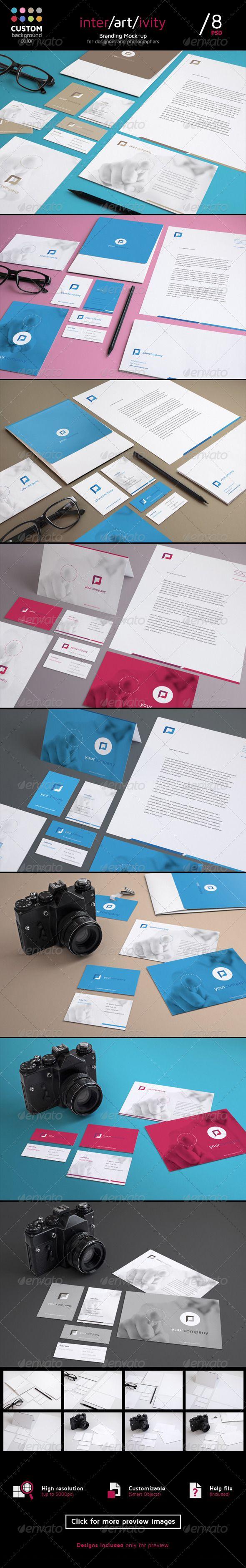Stationery Mock Up Set SetBackground ColourPhoto