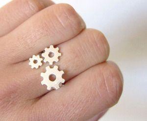 Gears - Handmade Silver Ring