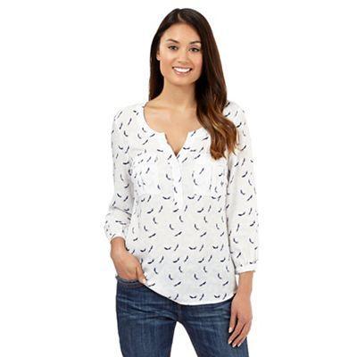 Mantaray White bird print blouse- | Debenhams