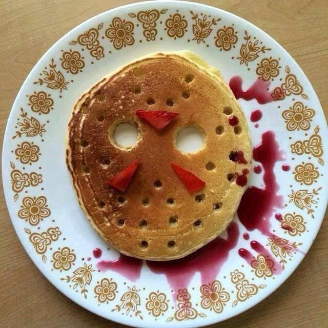 Image result for jason voorhees pancakes
