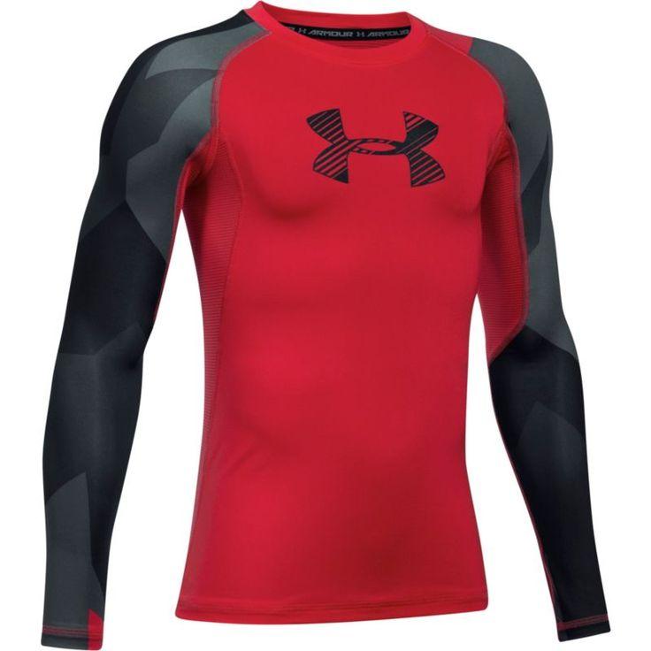 Under Armour Boys' Armour HeatGear Novelty T-Shirt, Size: Medium, Red