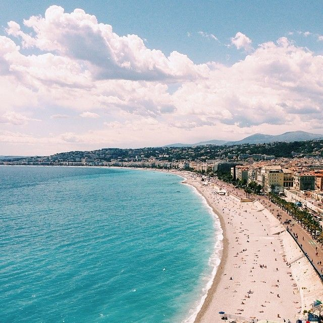 gorgeous beach view in nice, france