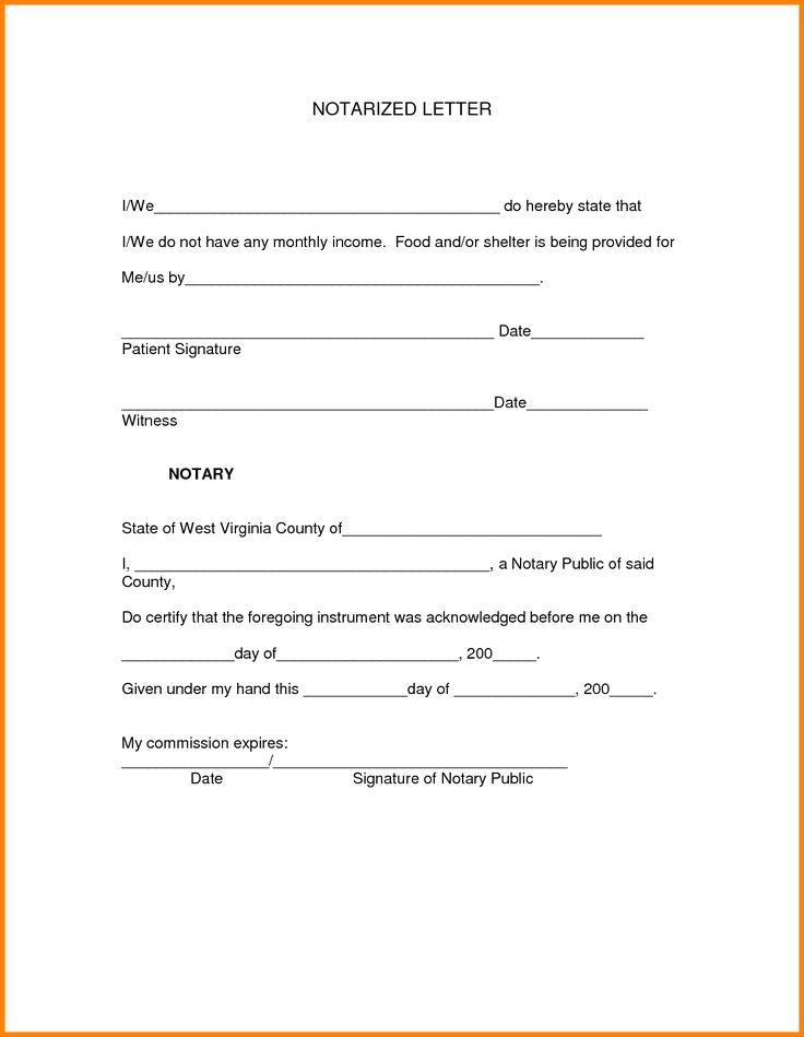 notarized lettertarized letter format sample letters resignation samples