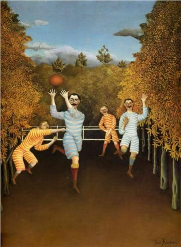 The Football players - Henri Rousseau, 1908 - oil on canvas 80.3 x 100.5 cm