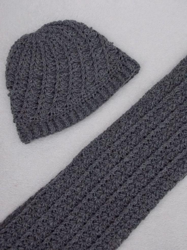 Renate's haken en zo: Muts en sjaal + patroon sjaal