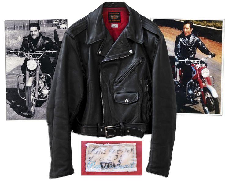 Elvis presley leather jacket