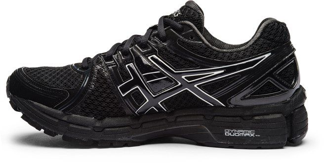 black on black asics for women | ... women shoes running asics gel kayano 19
