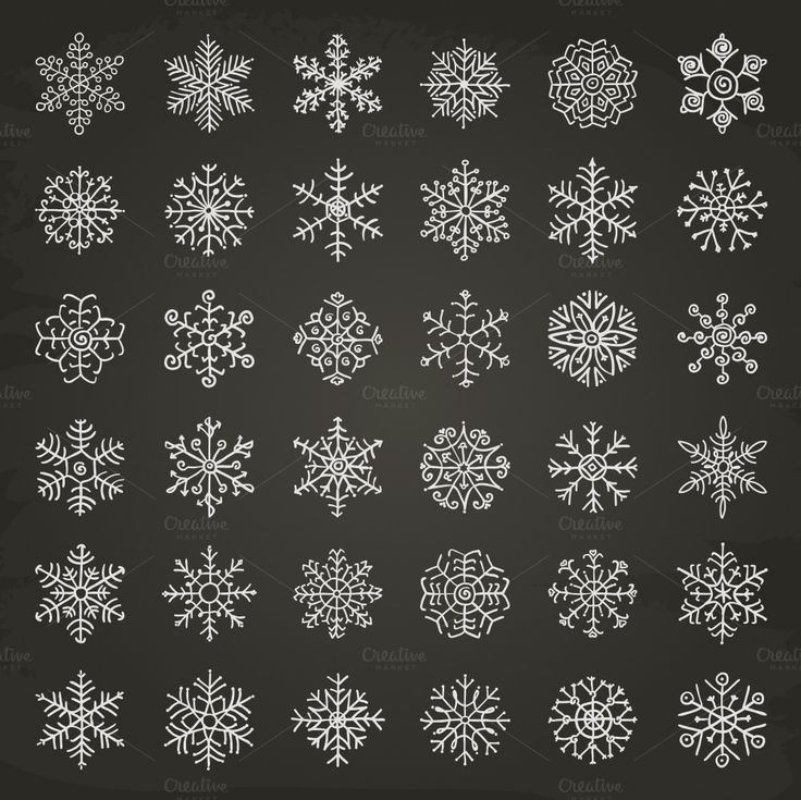 Winter Snowflakes Doodles - Icons - 1