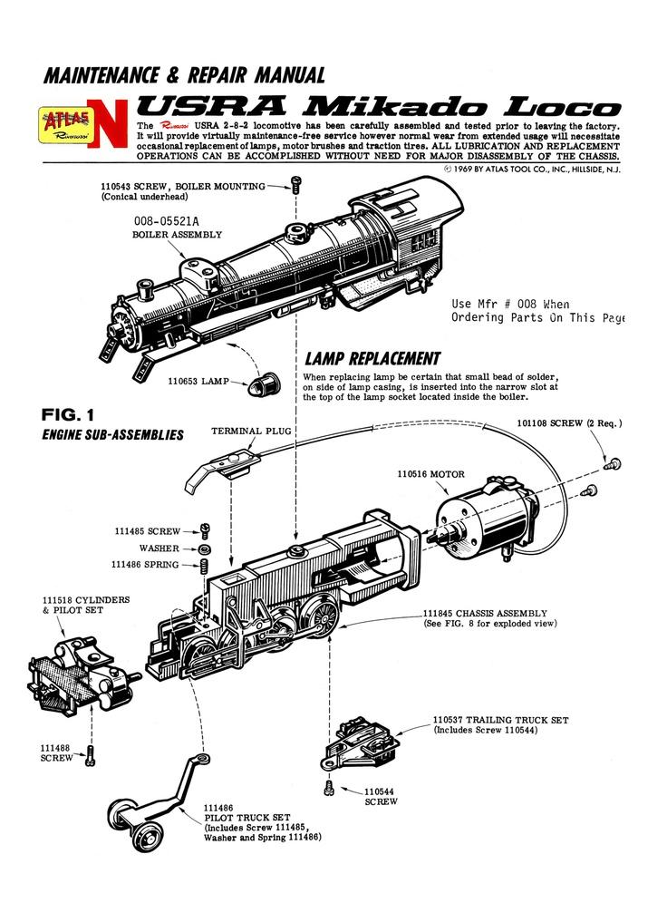 49 best Atlas/Rivarossi N Steam Engine Manuals images on