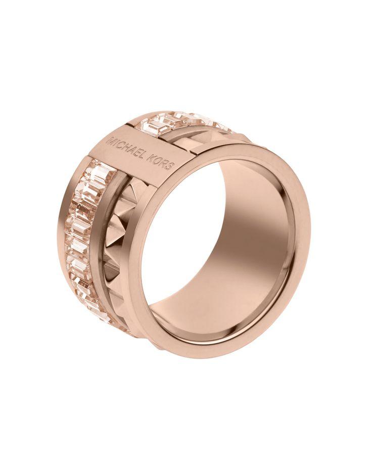 @Michael Dussert Kors Pyramid/Baguette Ring