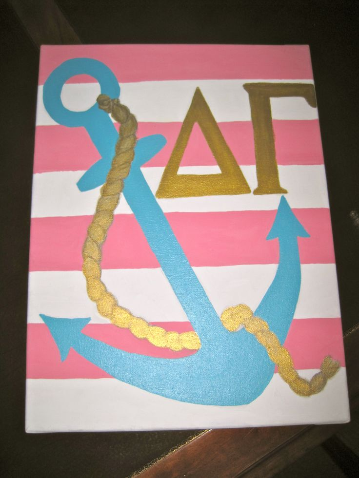 Custom made Delta Gamma anchor painting!