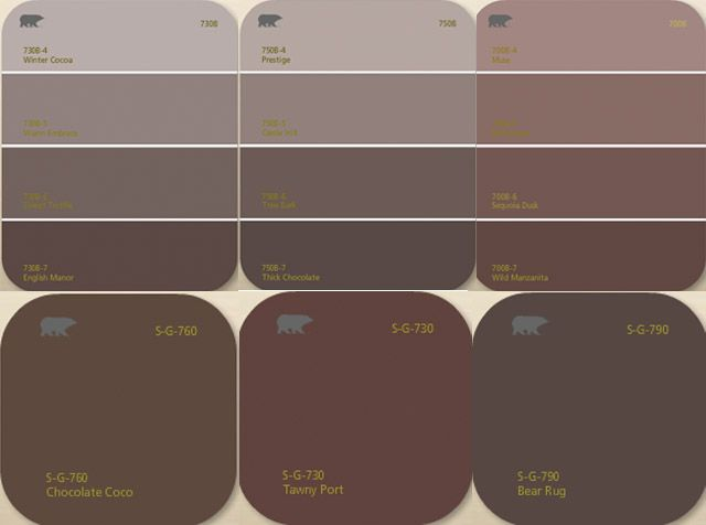 Living With Color  Shade Options in Choosing Brown Paint   This Lovely Home37 best PAINT COLORS images on Pinterest   Colors  Colour palettes  . Grey Brown Paint. Home Design Ideas