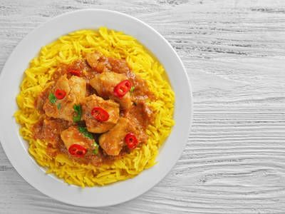 This crock-pot chicken curry is deliciously easy. Throw the ingredients together in the pot, and then forget about it for a few hours.